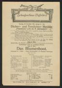 Dichter- und Tondichter-Matinée: Französische Lyrik des 19. Jahrhunderts