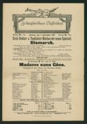 Erste Dichter- u. Tondichter-Matinée der neuen Spielzeit: Bismarck