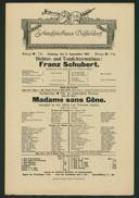 Dichter- und Tondichter-Matinée: Franz Schubert