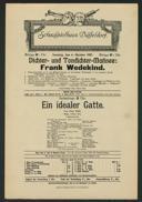 Dichter- und Tondichter-Matinée: Frank Wedekind