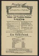 Dichter- und Tondichter-Matinée: Lessing