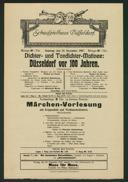 Dichter- und Tondichter-Matinee : Düsseldorf vor 100 Jahren