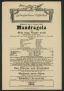 Mandragola oder: Wie man Vater wird