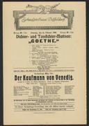 """Dichter- und Tondichter-Matinee: """"Goethe"""""""
