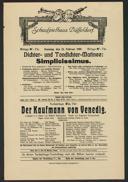 Dichter- und Tondichter-Matinee: Simplicissimus