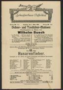 Dichter- und Tondichter-Matinee: Faschingsfeier zu Ehren von Wilhelm Busch