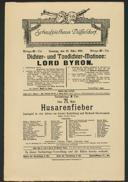 Dichter- und Tondichter-Matinee: Lord Byron