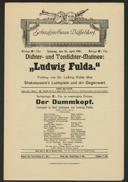 """Dichter- und Tondichter-Matinee: """"Ludwig Fulda"""""""