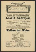 Dichter- und Tondichter-Matinee: Leonid Andrejew