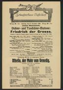 Dichter- und Tondichter-Matinee: Friedrich der Grosse