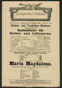 Dichter- und Tondichter-Matinee: Gedenkfeier für Detlev von Liliencron