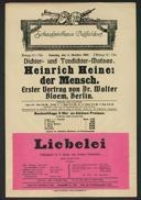 Dichter- und Tondichter-Matinee: Heinrich Heine, der Mensch