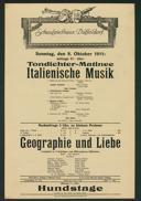 Tondichter-Matinee Italienische Musik