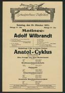 Matinee: Adolf Wilbrandt