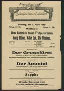 Matinee: Dem Andenken dreier Frühgestorbenen Georg Büchner, Walter Calé, Otto Weininger