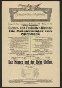 Dichter- und Tondichter-Matinée: Die Meistersinger von Nürnberg
