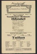 Tondichter-Matineé: Händel