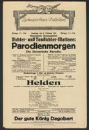 Dichter- und Tondichter-Matinee: Parodienmorgen