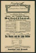 Dichter- und Tondichter-Matinee: Schottland